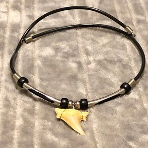 Other - ♥️ Men's Shark Tooth Necklace w/ Beaded Accent